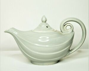 Vintage Hall China ALADDIN LAMP GENIE Teapot - Gray - Excellent - Made in USA