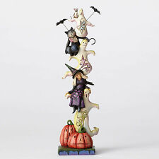 Jim Shore Halloween Stacked Ghosts w/Witch & Cat Fig -Raise Your Spirits 4053865
