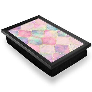 Deluxe Lap Tray - Pink Pearl Vintage Moroccan Home Gift #2526