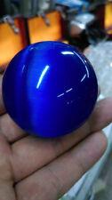Rare Natural Quartz blue Cat Eye Crystal Healing Ball Sphere 40mm Stand