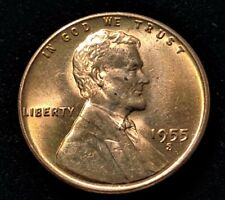 1955-S Lincoln Wheat 1 Cent Penny Nice Coin