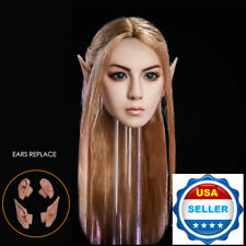 1/6 Fairy Elf Female Head Sculpt Detachable Ears PALE For Female Figure PHICEN