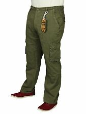 MENS BRAND NEW CARGO COMBAT TROUSER KAM IN KHAKI TAUPE DENIM COLOURS 30 TO 40