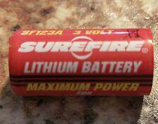 SureFire 123A SF123A CR123A Lithium 3V 3 VOLT Batteries (2 Pack)