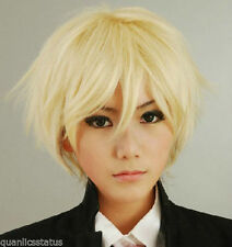 NEW Axis Powers Hetalia APH Arthur Kirkland Short Blonde Anime Cosplay Wig Z75