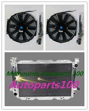 "For FORD radiator + 12"" Fan F100 F150 F250 F350 Bronco V8 AT 1987-1997 Aluminum"