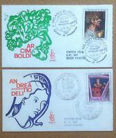 FDC Venetia - Italia Repubblica 1977 - Arte Italiana - 2 buste viaggiate ***