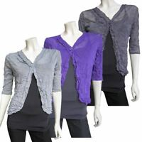 New Ladies Eversun Sheer Mesh Bolero Crinkle Cardi  Shrug Various Colours 10-20
