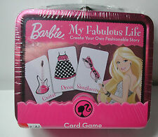 New BARBIE My Fabulous Life Create your own Story CARD GAME Metal Box w/ Handle