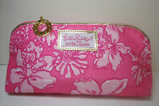 2x Lilly Pulitzer for Estee Lauder RARE Pink Floral Cosmetic Makeup Bag NEW