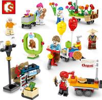 Blocksteine Sembo Park City Figur Spielzeug Modell Geschenk Kind 8set Gebäude