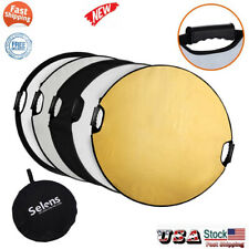 """Studio 110CM 43"""" 5in1 photo Handle Grip Photography Light Collapsible reflector"""