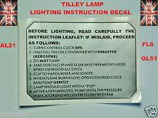 TILLEY LAMP DECALS STICKERS TILLEY LAMP STICKER SERVICE KIT PART