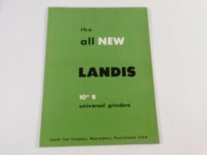 """Vintage 1960 Landis 10"""" R Universal Grinders Catalog Brochure"""