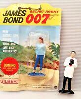 Vintage Gilbert James Bond Domino on Card together with loose Dr No figure 1965