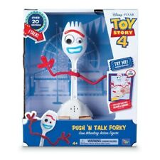 DISNEY Thinkway Toy Story 4 Push N Talk Forky 22cm Action Figure 20+ Phrase NEW