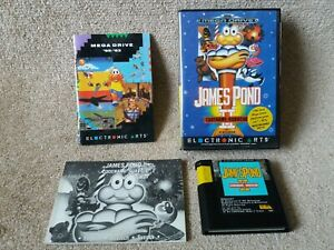 Sega Megadrive - James Pond 2 II - Boxed with Manual. Excellent Condition