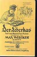 Der Leberkas - Max Welcker Op. 130 No. 12 - für 4 Männerstimmen und Klavier