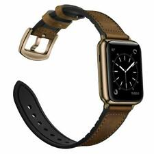 iWatch Band 42mm/44mm Genuine Leather Hybrid Series 5 4 3 2 1 Retro Dark Brown