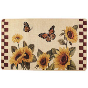 Sunflower & Butterfly Accent Rug, Multi|Natural