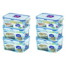 6PK Lock & Lock 350/470ml Plastic Food/Snacks Storage Container Set Value Pack