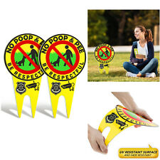 2 Pieces No Poop Dog Signs No Poop and Pee Sign Luminous Be Respectful Sign Yard