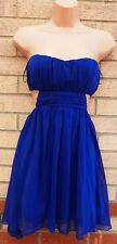 MISO BLUE CUT OUT SIDES BACK SEXY SKATER FLIPPY CURVY FIT PROM PARTY DRESS 8 S