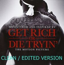CLEAN/EDITED 50 Cent Get Rich or Die Tryin Soundtrack CD NEW CLEAN/EDITED trying