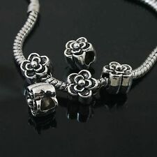 6pcs Tibetan Silver flower spacer Beads Fit European charm  Bracelet  L0100