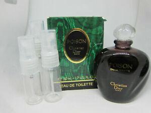 Christian Dior Poison Eau de Toilette EDT - SAMPLE - 5 ml 10 ml 15 ml