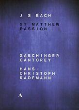 Johann Sebastian Bach: St Matthew Passion [Gaechinger Cantorey;[Region 2]