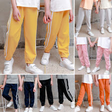 Kids Boys Girls Harem Trousers Pants Sport Joggers Jogging Comfy Bottoms Age2-12