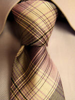 Penguin 0506  Assorted Yellow Plaid Pocket Square
