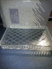 Vintage Avon crystal jewelry tray beautifully crafted 24% full Lead Crystal