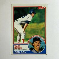 Wade Boggs 1983 Topps #498 Rookie Card RC - Boston Red Sox