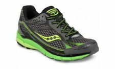 Saucony Boys Ride 7 Running/Gym Shoes, Neutral - Grey/Neon Green - Size 4