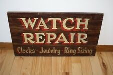 Vintage 1940s Advertising Repairs - Watches Clocks Jewelry Ring Sizing Wood