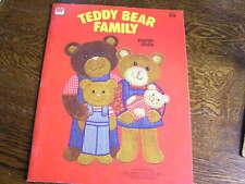 Whitman 1980 Teddy Bear Family Mama~Papa~Son~Baby Girl Paper Dolls & Clothes~Nip