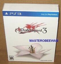 Drakengard 3 Collector's Edition New Sealed + DLC (Sony PlayStation 3, 2014) PS3