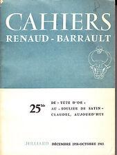 C1 Cahiers RENAUD BARRAULT 1964 Paul CLAUDEL AUJOURD HUI