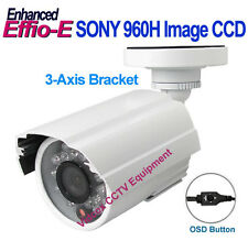 "1/3"" SONY 960H CCD Effio-E 700TVL NIGHT VISION OUTDOOR WIDE ANGLE IR CCTV CAMERA"