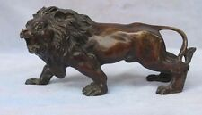 Chinese Bronze Asian Africa Wild Lion Statue Sculptures