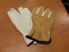 Lot Of 12 Pair Grain Drivers Split Back Glove Leather Large Work Glove 4714L