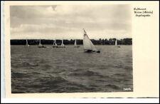 Waren Müritz Mecklenburg Vorpommern DDR AK 1958 Segel Regatta Tiefwarensee