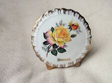 VINTAGE GILDED LIVERPOOL RD POTTERY CHINA POCKET VASE YELLOW ROSE DUNOON