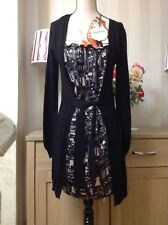 KILLAH Ladies Miss Sixty Cardigan Dress. Size-S /10 UK. New With Tags (bk)