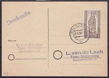 Berlin Mi Nr. 132 EF auf Drucksache, gel. in Essen 08.03.1956