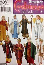 Simplicity Sewing Pattern Costume 4797 Shepherd King Christmas Bible Angel Kids