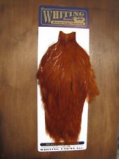 Fly Tying Whiting American Rooster Cape Fiery Brown #B
