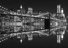 Wall Mural SKYLINE NEW YORK CITY photo Wallpaper CITYSCAPE Black & White Large